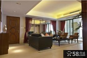 美式风格客厅家具摆放效果图片