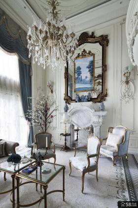 欧式别墅客厅装饰效果图大全2013图片