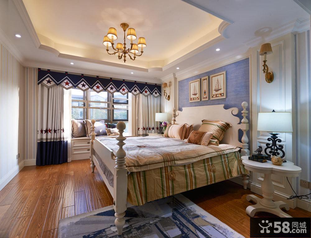 豪华欧式别墅室内卧室效果图片
