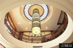 客厅圆形吊顶图片