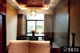 8万打造清新中式风格餐厅装修效果图大全2014图片