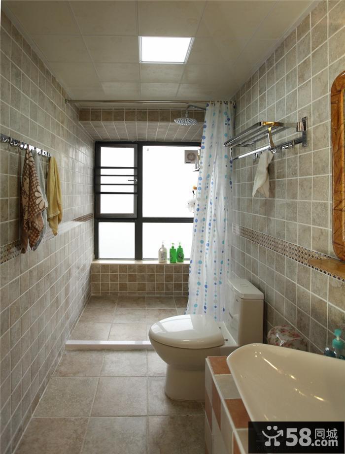 长方形卫生间装修效果图大全2015图片