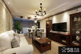 美式风格室内装修客厅电视背景墙图片大全