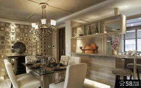 现代餐厅室内家居装饰效果图