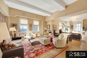 欧式典雅的四居室客厅装修效果图大全2012图片