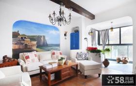 简约风格客厅沙发背景墙效果图片