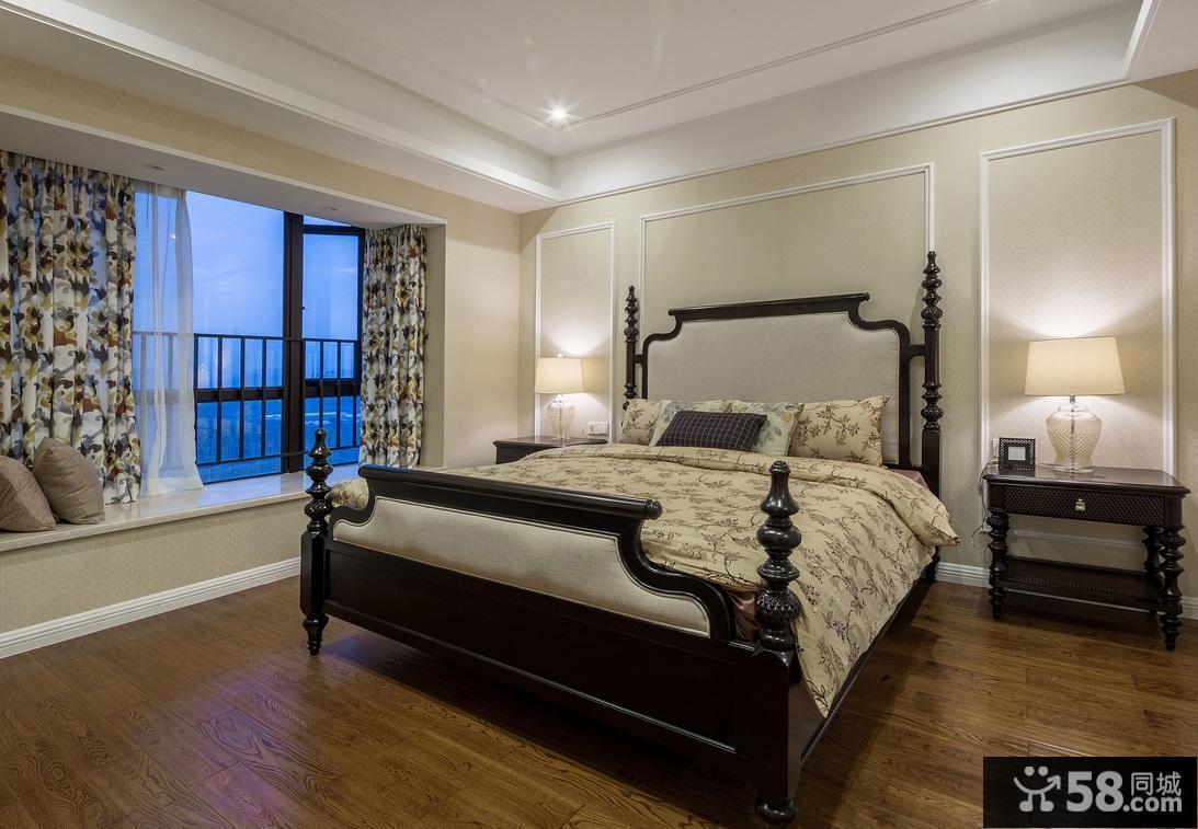 欧式复古风格别墅卧室装修效果图