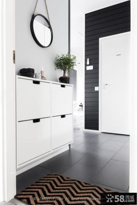 家居装修进门鞋柜设计