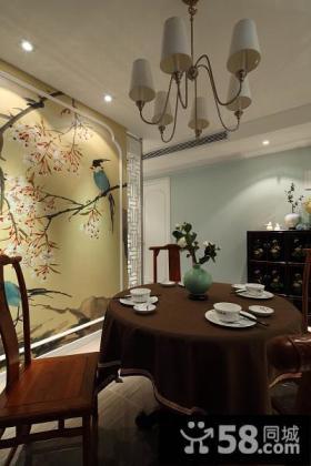 中式现代餐厅室内装饰效果图片