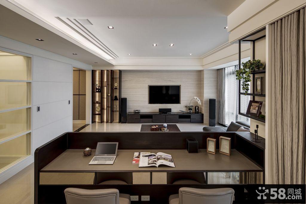 现代时尚装饰客厅吊顶大全图片