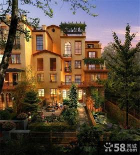 欧式风格别墅庭院设计平面图