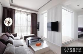 现代时尚客厅电视背景墙2015