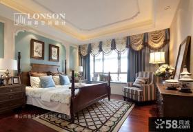 美式风格样板房卧室装修效果图