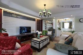 简欧风格电视背景墙客厅装修效果图