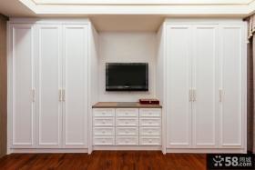 简约欧式风格入墙式衣柜图片