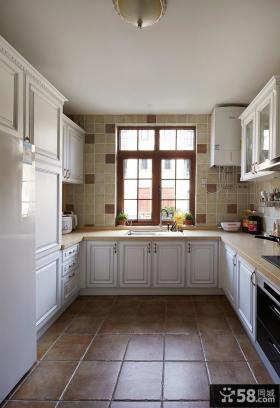 现代欧式风格家装厨房效果图欣赏2014