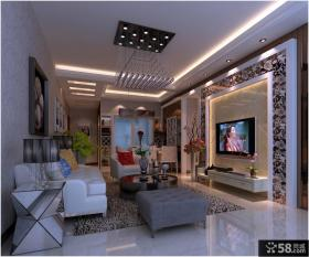 优质现代风格客厅电视背景墙装修效果图片