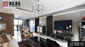 新古典客厅电视背景墙家装效果图