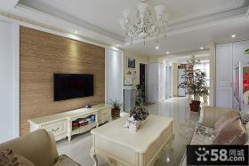 家庭时尚设计11平米客厅电视背景墙