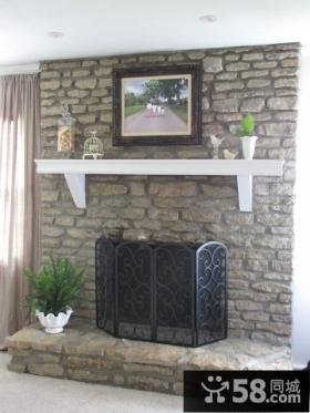 欧式简约风格三居室客厅背景墙装修效果图大全2014图片