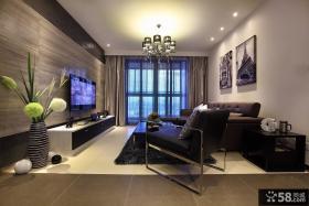 现代风格客厅瓷砖电视墙效果图大全