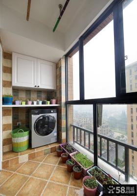 简约家装阳台设计装饰效果图