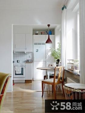70㎡现代小户型清新的厨房装修效果图