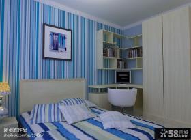 现代风格卧室壁纸背景墙效果图欣赏