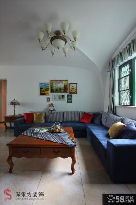 地中海风格小户型客厅装修图片欣赏