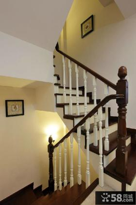 实木美式楼梯装潢设计