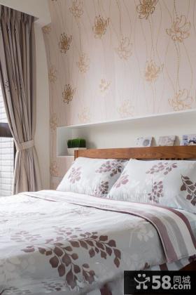 宜家风格卧室床头壁纸图片