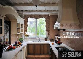 复古的田园风格复式楼厨房装修效果图大全2014图片