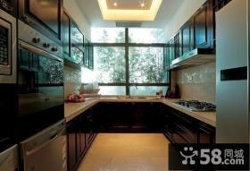 中式古典别墅厨房橱柜装修效果图大全