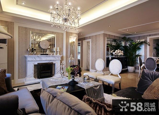 豪华现代欧式风格装修效果图客厅图片