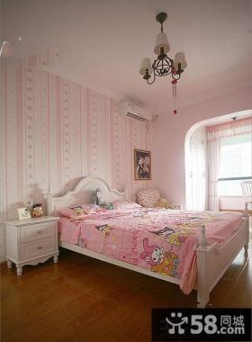 女孩粉色儿童房装修效果图大全欣赏