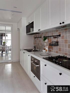 欧式简约大户型厨房装修效果图
