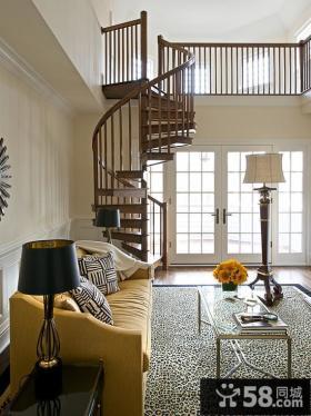 复式家用旋转楼梯图片