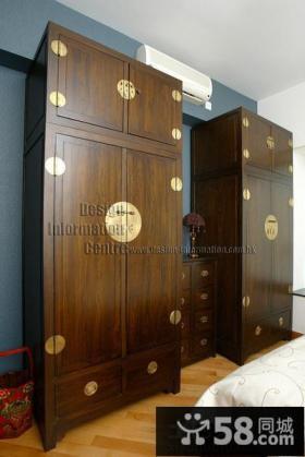 中式风格家装衣柜效果图