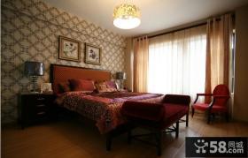 家装样板房卧室窗帘装修效果图