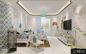 新中式家居客厅装修设计图