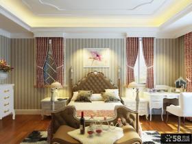 卧室床头背景墙壁纸装饰效果图