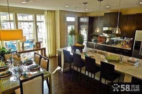 两室两厅美式厨房装修效果图大全2014图片