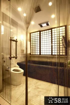 中式古典别墅卫生间装修效果图大全2014图片