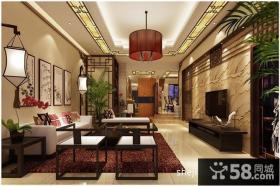 中式客厅吊顶装修效果图大全2012图片