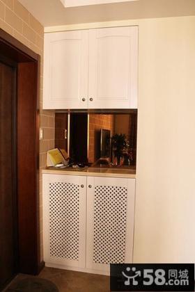 白色玄关鞋柜装饰效果图片