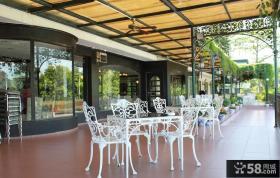 简单开放式阳台餐厅装修效果图