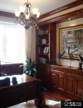 书房美式家具图片