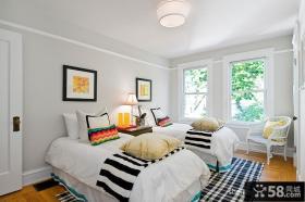 简欧风格双人房卧室装修效果图