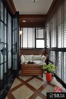 美式家装设计阳台效果图