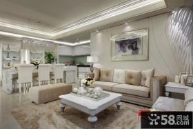 最新欧式风格客厅装修图